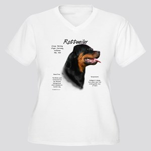 Rottweiler Women's Plus Size V-Neck T-Shirt