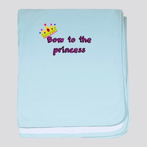 Bow to the princess baby blanket