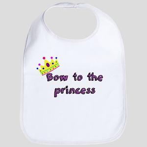 Bow to the princess Bib