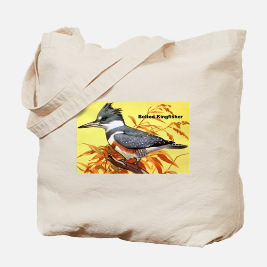 Belted Kingfisher Bird Tote Bag