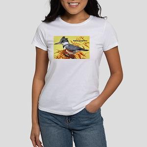 Belted Kingfisher Bird (Front) Women's T-Shirt