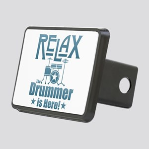 Relax The Drummer is Here Rectangular Hitch Cover