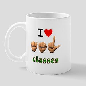 I Love ASL Classes Mug