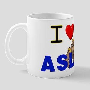 I Love ASL & Gorillas! Mug