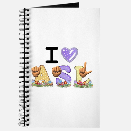 I Love ASL & Spring Flowers Journal