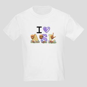 I Love ASL & Spring Flowers Kids Light T-Shirt