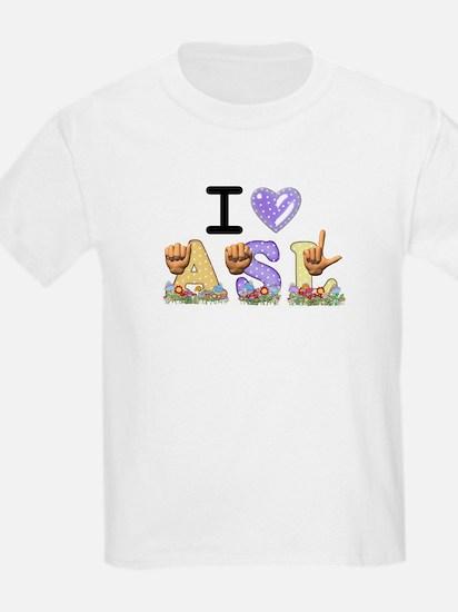 I Love ASL & Spring Flowers T-Shirt