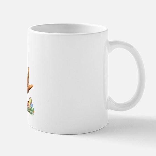 I Love ASL & Spring Flowers Mug