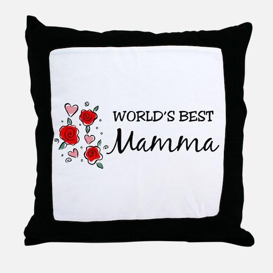 WB Mom [Italian] Throw Pillow