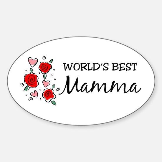 WB Mom [Italian] Oval Decal