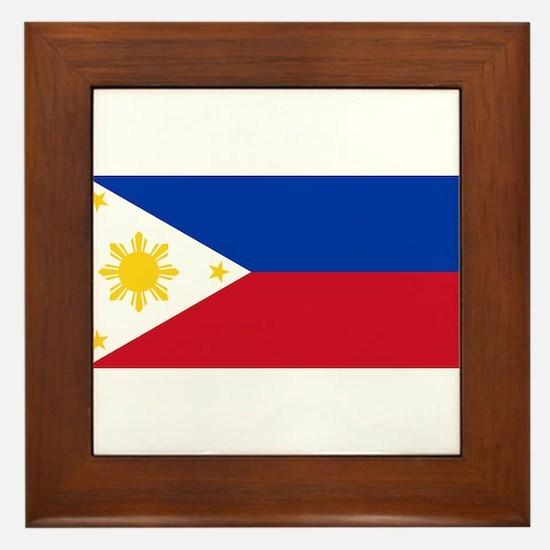 Philippines Flag Framed Tile