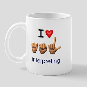 I Love ASL Interpreting Mug