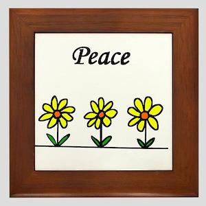 Daisy Peace Framed Tile