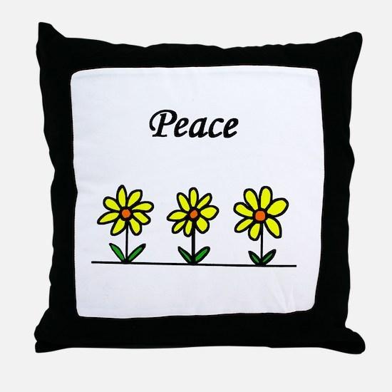 Daisy Peace Throw Pillow