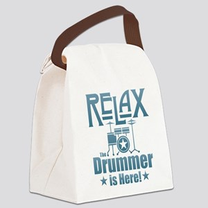 Relax The Drummer is Here Canvas Lunch Bag