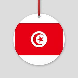 Tunisia Flag Ornament (Round)