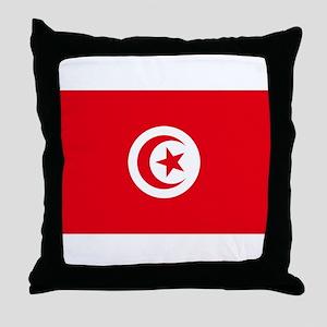 Tunisia Flag Throw Pillow