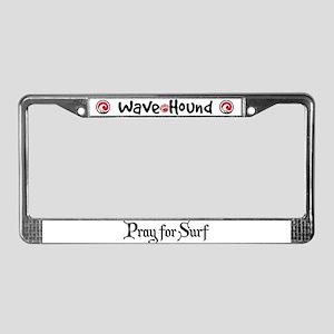 Pray for Surf License Plate Frame
