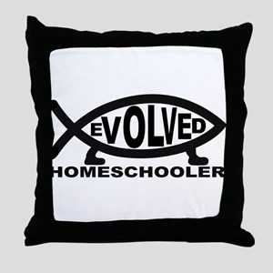 Evolved Homeschooler Throw Pillow