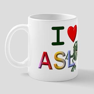 I Love ASL & Frogs Mug