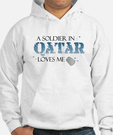 A Soldier in Qatar Loves me Hoodie