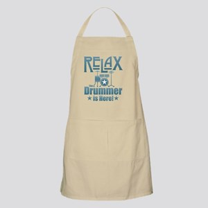 Relax The Drummer is Here Light Apron