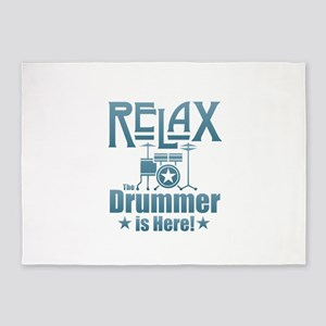 Relax The Drummer is Here 5'x7'Area Rug