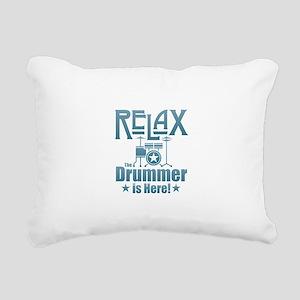 Relax The Drummer is Her Rectangular Canvas Pillow