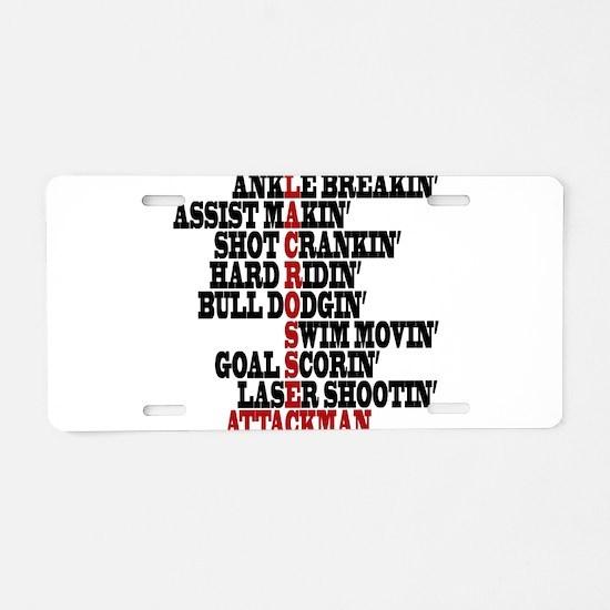 Lacrosse AWorded Aluminum License Plate