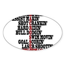 Lacrosse AWorded Sticker
