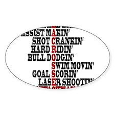Lacrosse AWorded Sticker