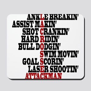 Lacrosse AWorded Mousepad