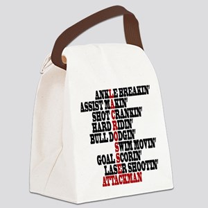 Lacrosse AWorded Canvas Lunch Bag