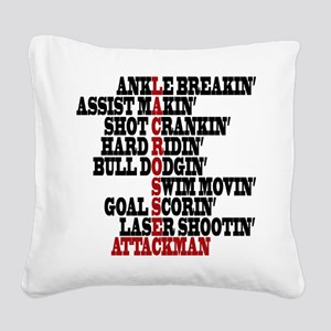 Lacrosse AWorded Square Canvas Pillow