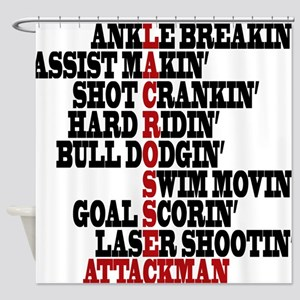 Lacrosse AWorded Shower Curtain