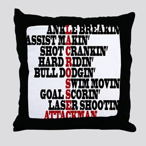 Lacrosse AWorded Throw Pillow