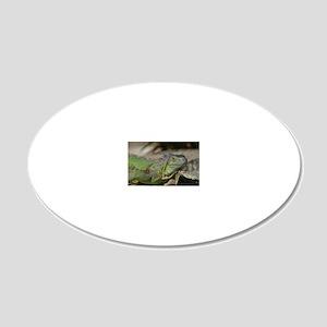 Iguana! 20x12 Oval Wall Decal