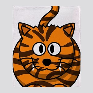 Tiger Cat Throw Blanket