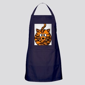 Tiger Cat Apron (dark)