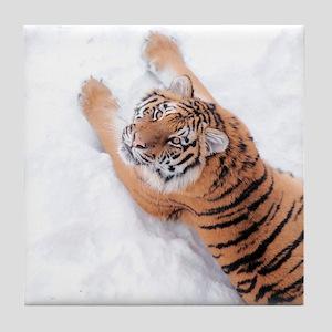 Snow Tiger Tile Coaster