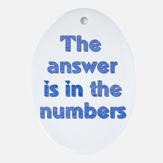 4 8 15 16 23 42 LOST Numbers gift Oval Ornament