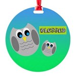 BLESSED (Owls) Ornament