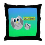 BLESSED (Owls) Throw Pillow
