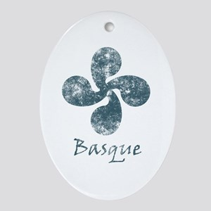 Basque Grunge Ornament (Oval)