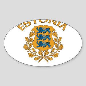 Estonia Oval Sticker