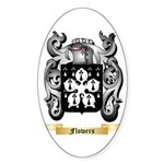 Flowers Sticker (Oval 10 pk)