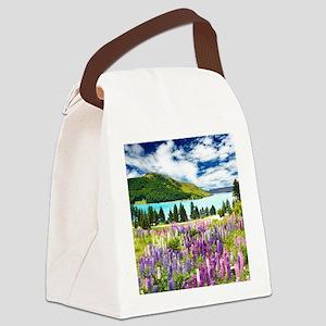 New Zealand Landscape Canvas Lunch Bag