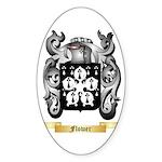 Flower Sticker (Oval 50 pk)