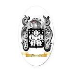 Flourette Oval Car Magnet