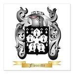 Flourette Square Car Magnet 3